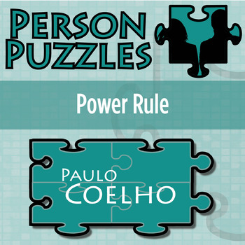 Person Puzzle Power Rule Paulo Coelho Worksheet By Clark