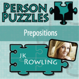Person Puzzle - Prepositions - JK Rowling