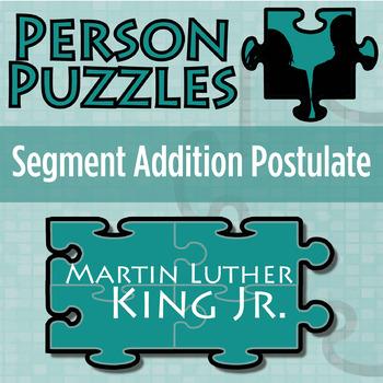 Person Puzzle -- Segment Addition Postulate - Martin Luthe