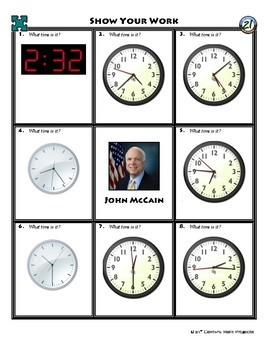Person Puzzle - Time - John McCain Worksheet