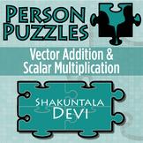 Person Puzzle - Vector Addition & Scalar Multiplication - Shankuntala Devi WS