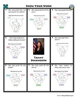 Person Puzzle -- Venn Diagrams - Tammy Duckworth Worksheet
