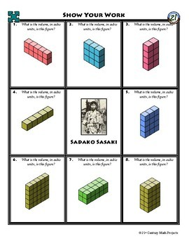 Person Puzzle -- Intro to Volume - Sadako Sasaki Worksheet
