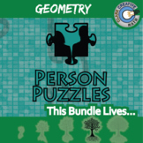 Person Puzzles - GEOMETRY CURRICULUM BUNDLE - 55+ Worksheets