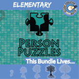 Person Puzzles - ELEMENTARY BUNDLE - 75+ Items - Distance Learning Compatible