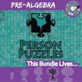 Person Puzzles - PRE-ALGEBRA BUNDLE - 80+ Items - Distance Learning Compatible