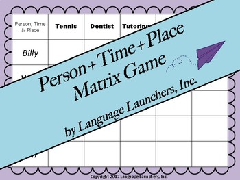 Person + Time + Place Matrix