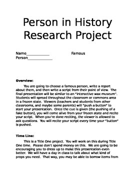 Person in History Project