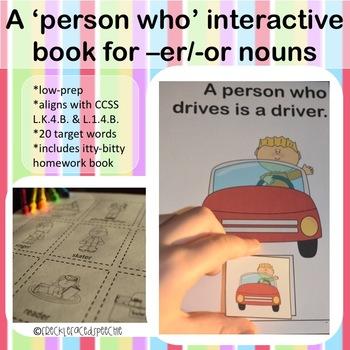 Person nouns interactive book