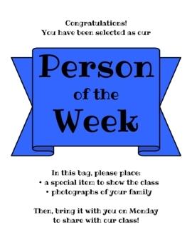 Person of the Week Flyer & Activities