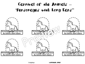 Personages with Long Ears from Carnival of the Animals (Finger Puppets)