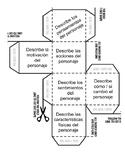 Personaje / Character Cube Interactive Speaking Activity SPANISH