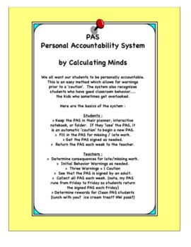 Personal Accountability System : PAS