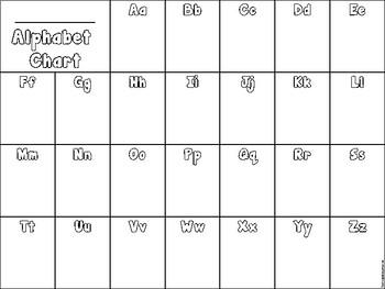Personal Alphabet Sheet