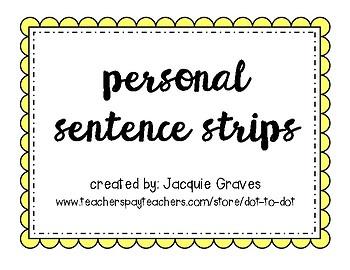 Personal Alphabet Strips
