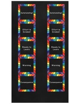 Behavior Chart {Rainbow Chalkboard}