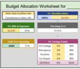 Personal Budget Allocation Calculator