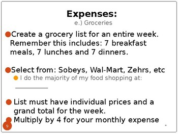 Personal Budget Assignment