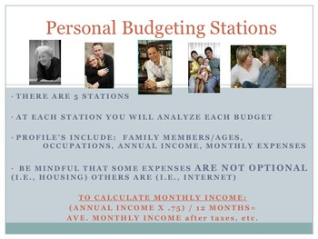Personal Budget Learning Stations