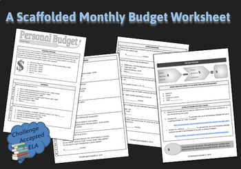 personal budget worksheet by challengeacceptedela tpt