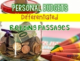 Personal Budgets Differentiated Reading Passages