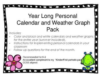 Personal Calendar PACK - Morning Work