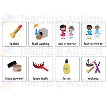 Personal Care Symbol Communication Cards - Autism