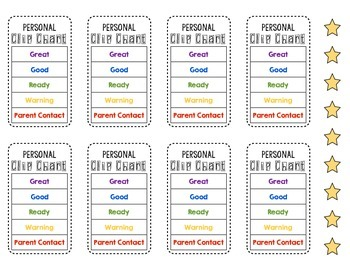 Personal Clip Chart