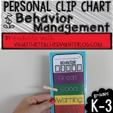 Personal Clip Chart and Behavior Management Plan