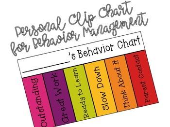 Personal Clip Chart for Behavior Management