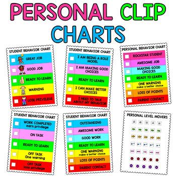 Personal Clip Charts {Private Behavior Charts}: Editable