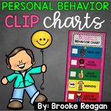 Personal Behavior Clip Charts {Private Behavior Charts}: Editable
