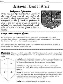 Coat Of Arms Activity & Worksheets | Teachers Pay Teachers