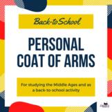 Personal Coat of Arms - build classroom culture! Perfect f