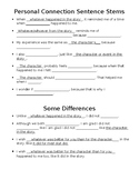 Personal Connection Sentence Stems