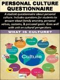 Personal Culture Questionnaire