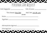 Personal Day Request Form