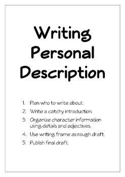 Personal Description Project