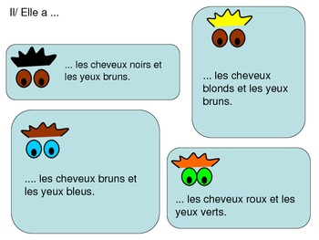 Personal Descriptions: Eye and Hair Colour in French