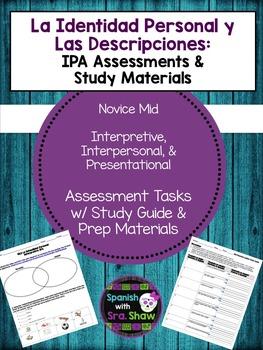 Personal Descriptions IPA Avancemos U1L2 1.2 All Materials
