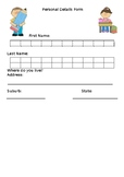 Personal Details Forms- Editable