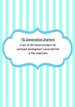 Personal Development (PD) Lesson Prompts and Conversation Starters