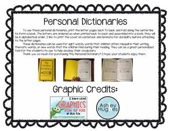 Personal Dictionaries