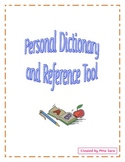 Personal Dictionaries and Reference Tool for Students