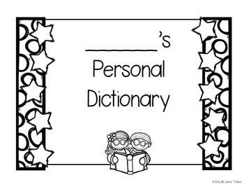 Personal Dictionary for Grade 1
