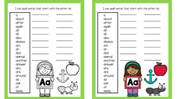 Student Dictionary Word Wall Book