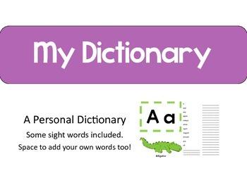 Personal Dictionary / Alphabet Book
