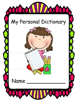 Personal Dictionary - Primary