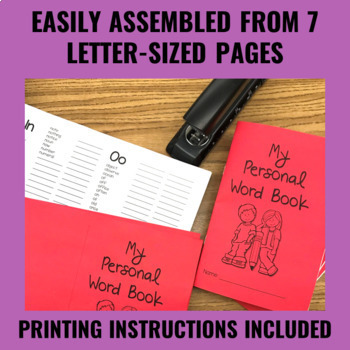 Personal Dictionary (Upper Grades) - Dolch & Fry Word Lists Plus Extras