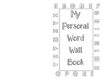 Personal Dictionary / Word Wall Booklet